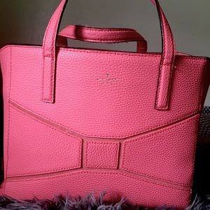 Coral Kate Spade Bow Tote